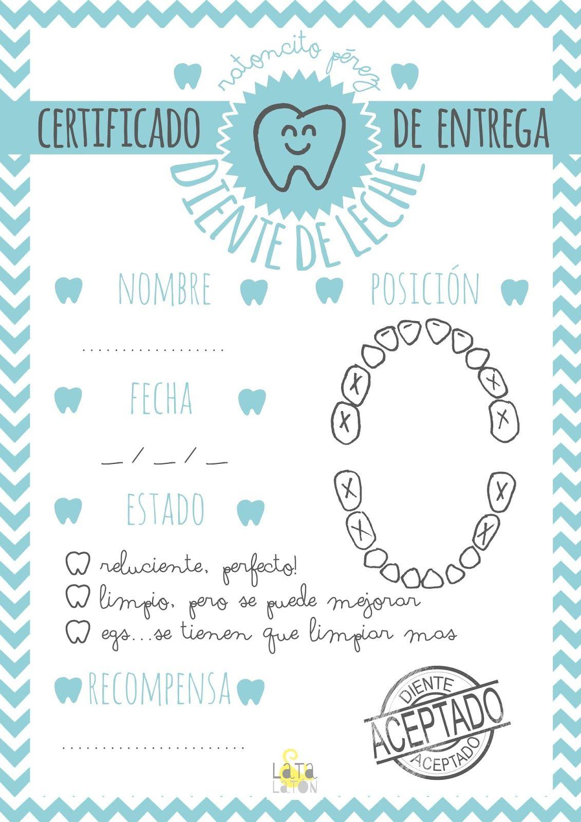 imprimible gratis ratoncito perez sobre certificado | Coses de casa ...