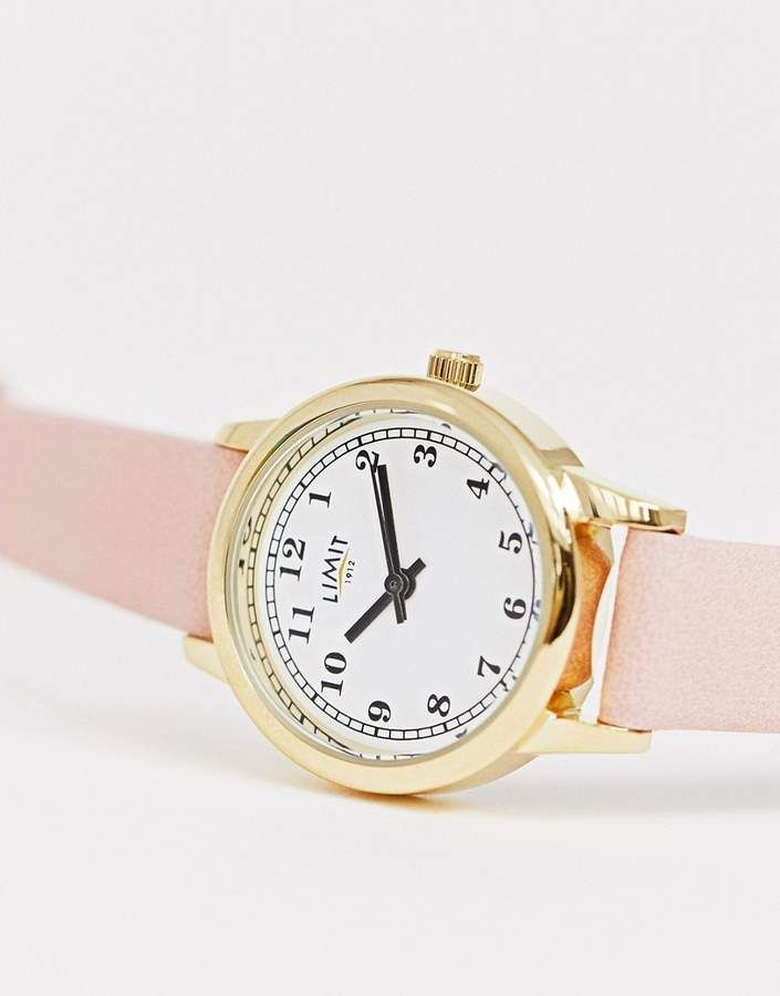 Limit faux leather watch in pinkPurple