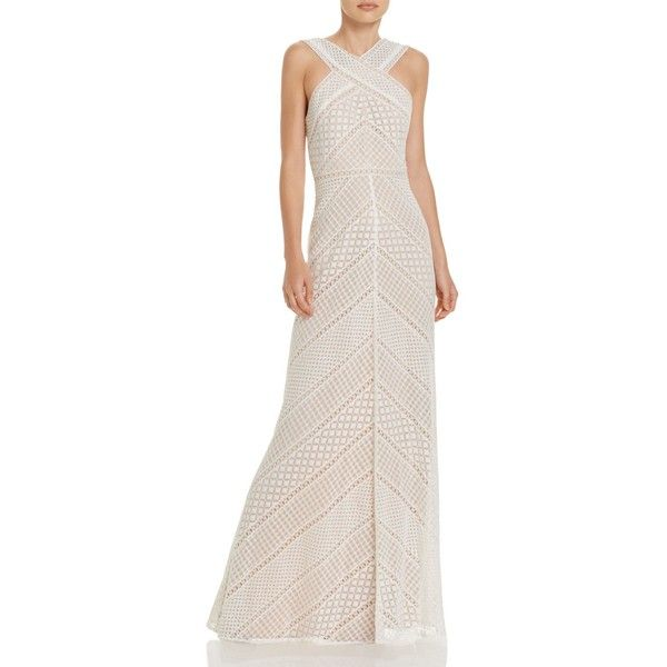 Bcbgmaxazria Crochet Gown ($255) ❤ liked on Polyvore featuring ...