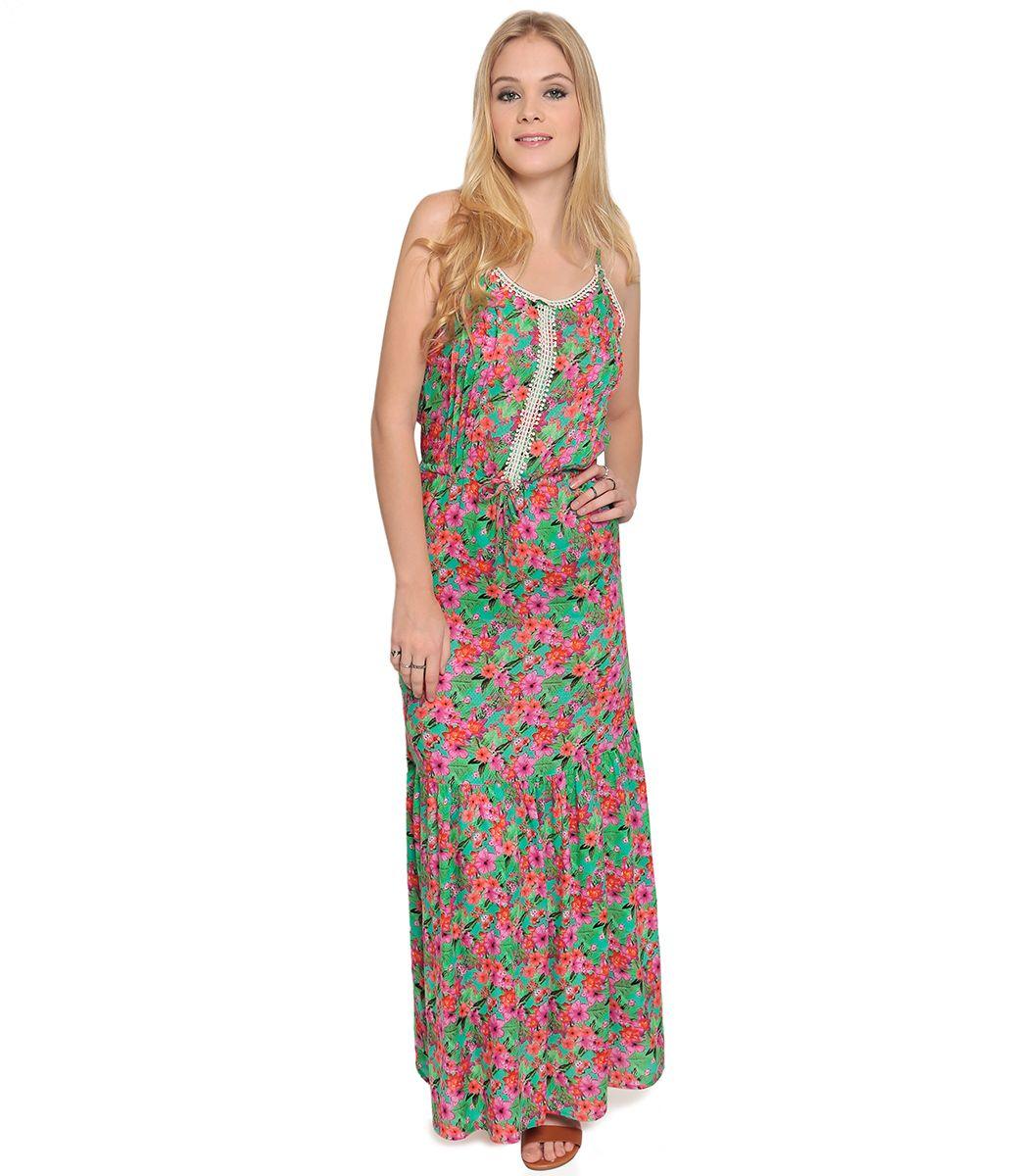 ae06e5bf4e Vestido Longo Feminino Floral - Lojas Renner