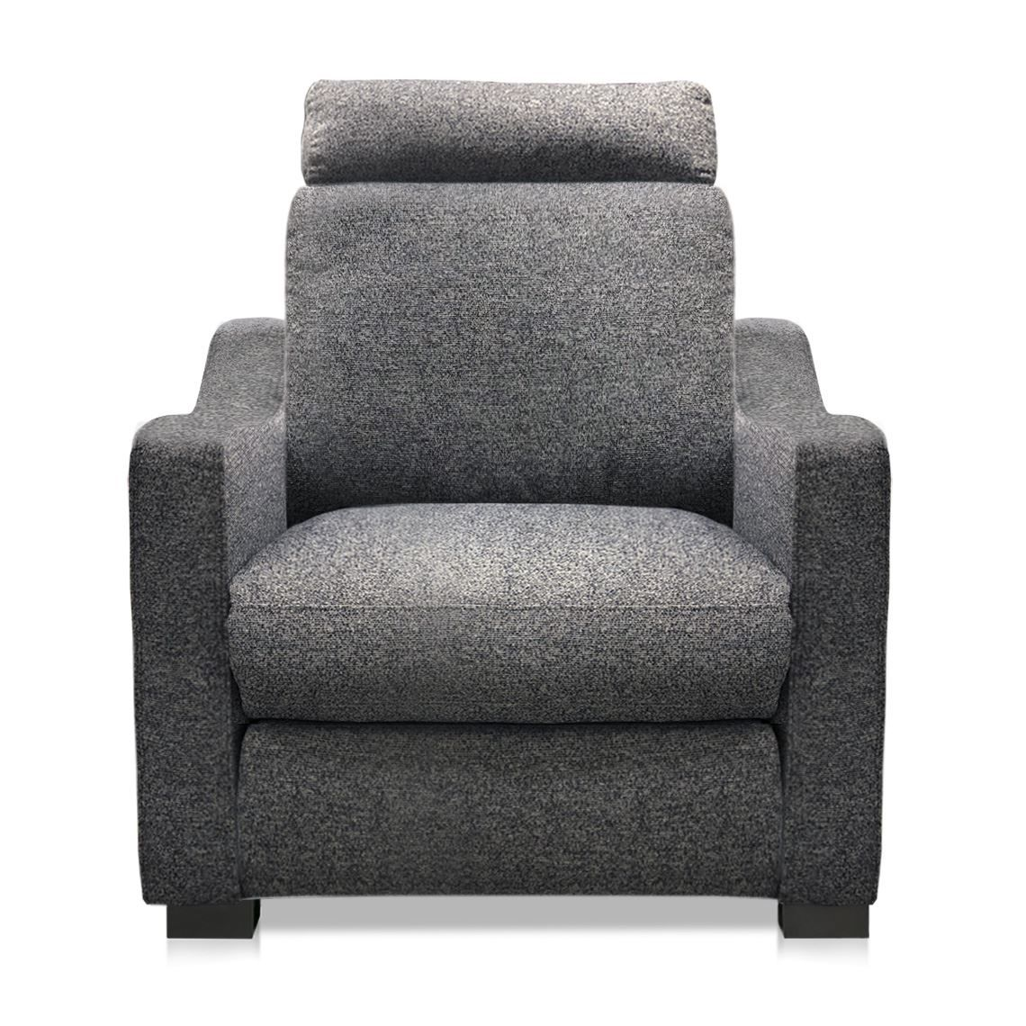 Signature Slope Fabric Electric Recliner Armchair Standard Denim Reclining Armchair Armchair Recliner