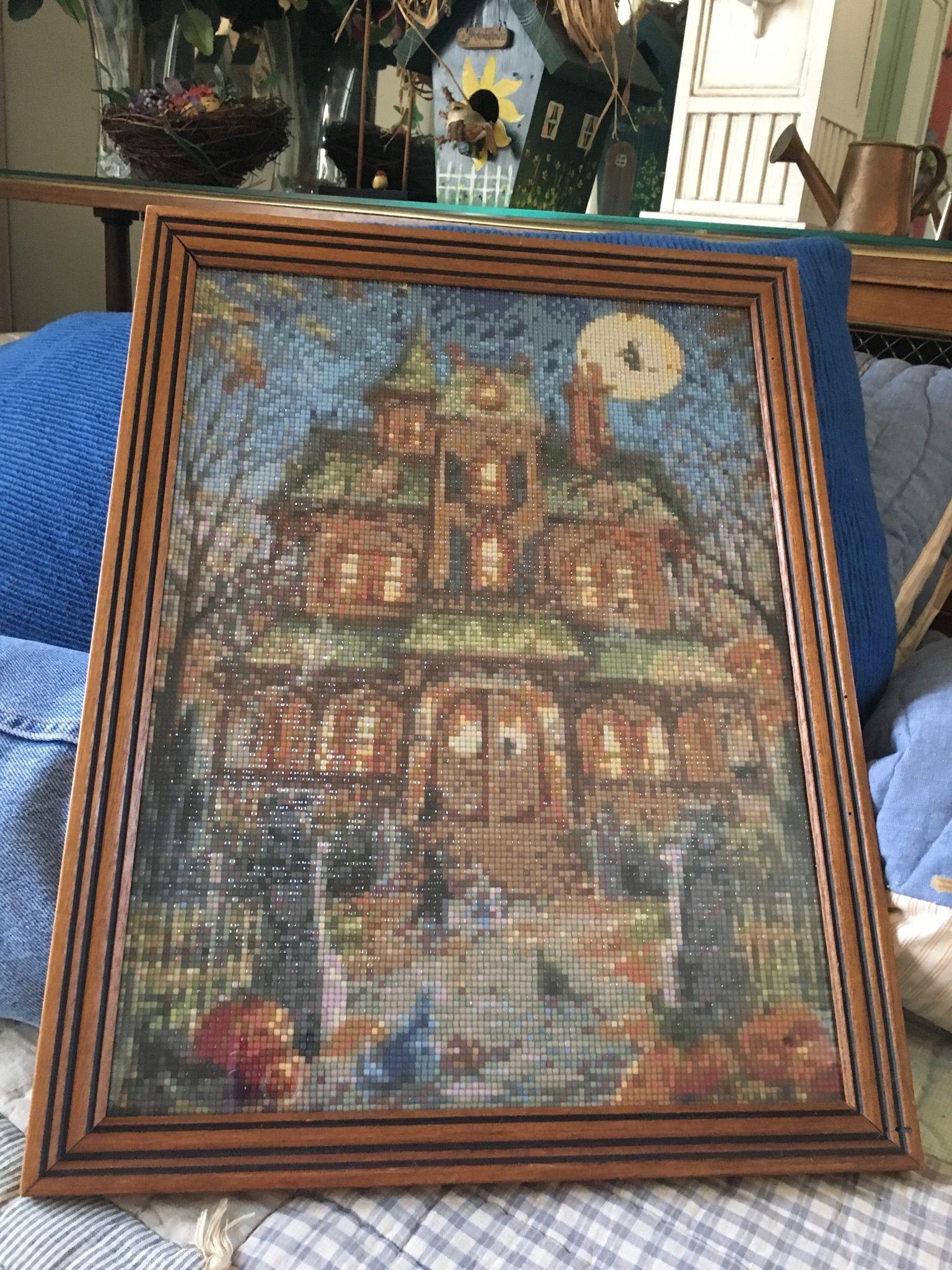 Diamond Painting Haunted House square beads