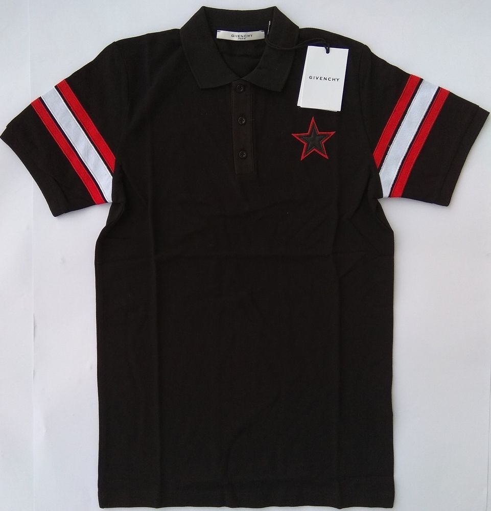 0022437a3 New GIVENCHY PARIS Men's Polo T-Shirt Size L Star Strip Realize Cuban France  #fashion #clothing #shoes #accessories #mensclothing #shirts (ebay link)