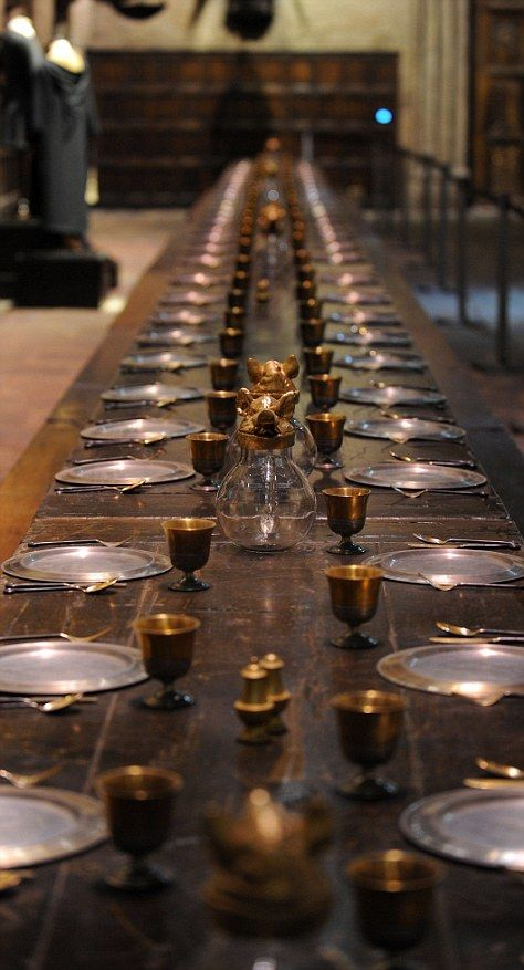 The magic of harry potter see inside the studios where for Dining table harry styles