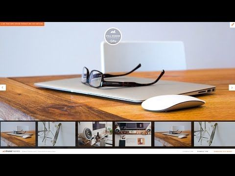 Scrolling Thumbnail Gallery (Fullscreen) - Adobe Muse Widget | MuseThemes.com - YouTube
