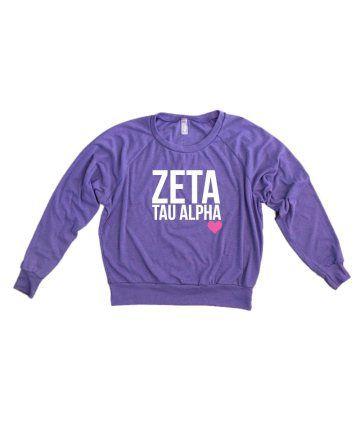 Zeta Tau Alpha long sleeve tee - The Greek Supply www.thegreeksupply.com #thegreeksupply #sorority