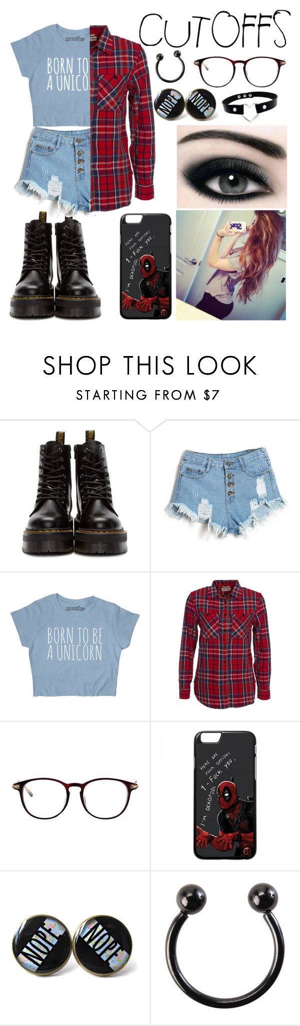 """""""Cutoffs"""" by kaelahclothier on Polyvore featuring Dr. Martens, Denim & Supply by Ralph Lauren, jeanshorts, denimshorts and cutoffs"""