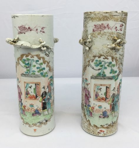 Antiques Gifts Beautiful Pair Of Antique Chinese Porcelain Vases