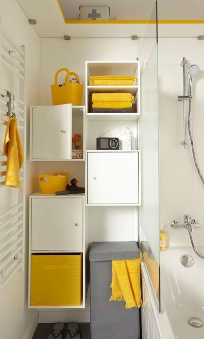 Idée utilisation Multikaz Leroy Merlin pour SDB Déco - Salle de - meuble pour wc suspendu leroy merlin
