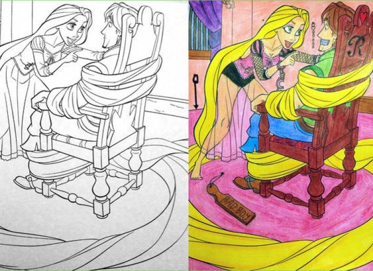 27 Innocent Images In Childrens Coloring Books That Transformed Into Disturbing Drawings