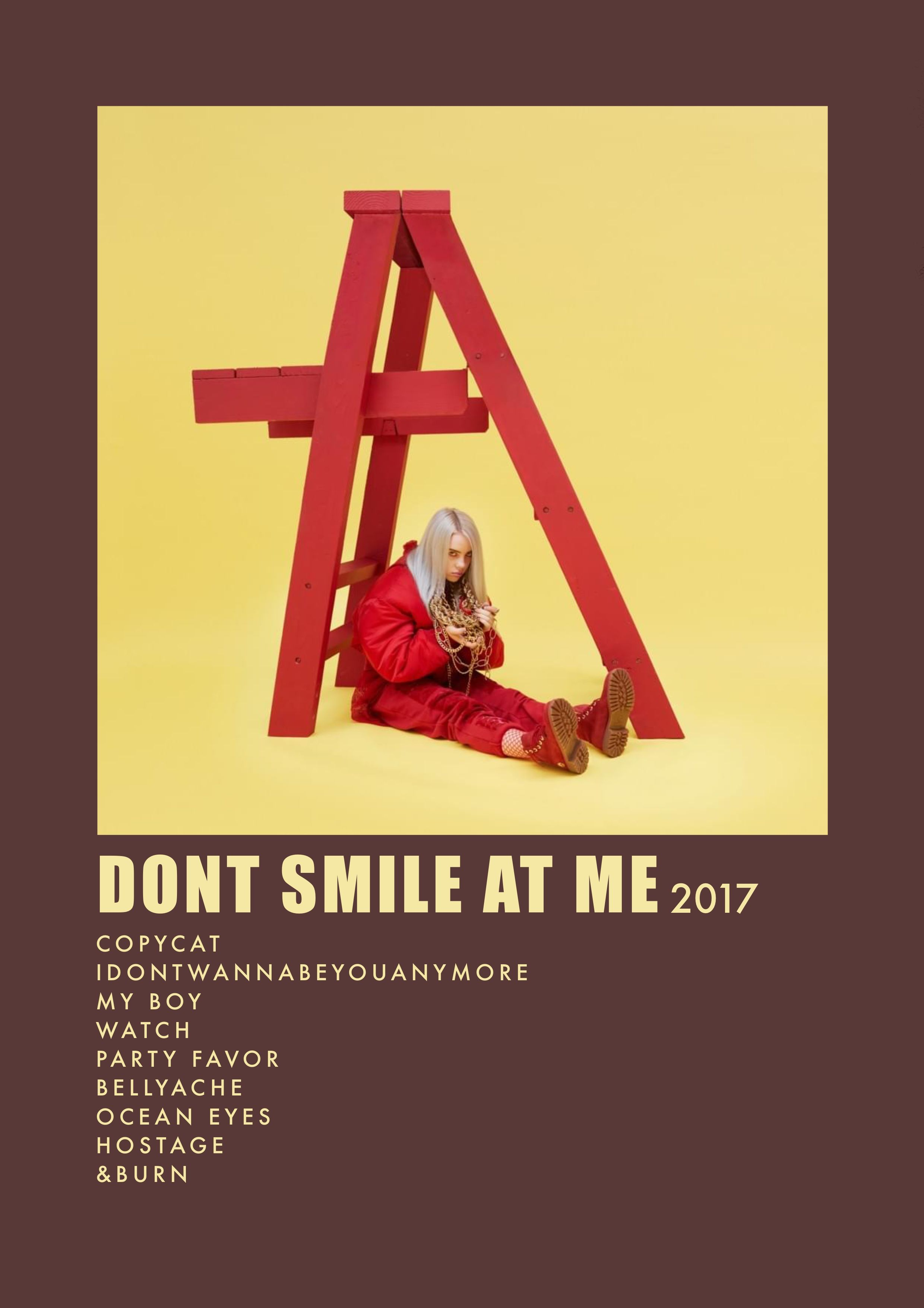 Dont Smile At Me Album Poster In 2020 Vintage Music Posters Movie Poster Wall Music Poster Design