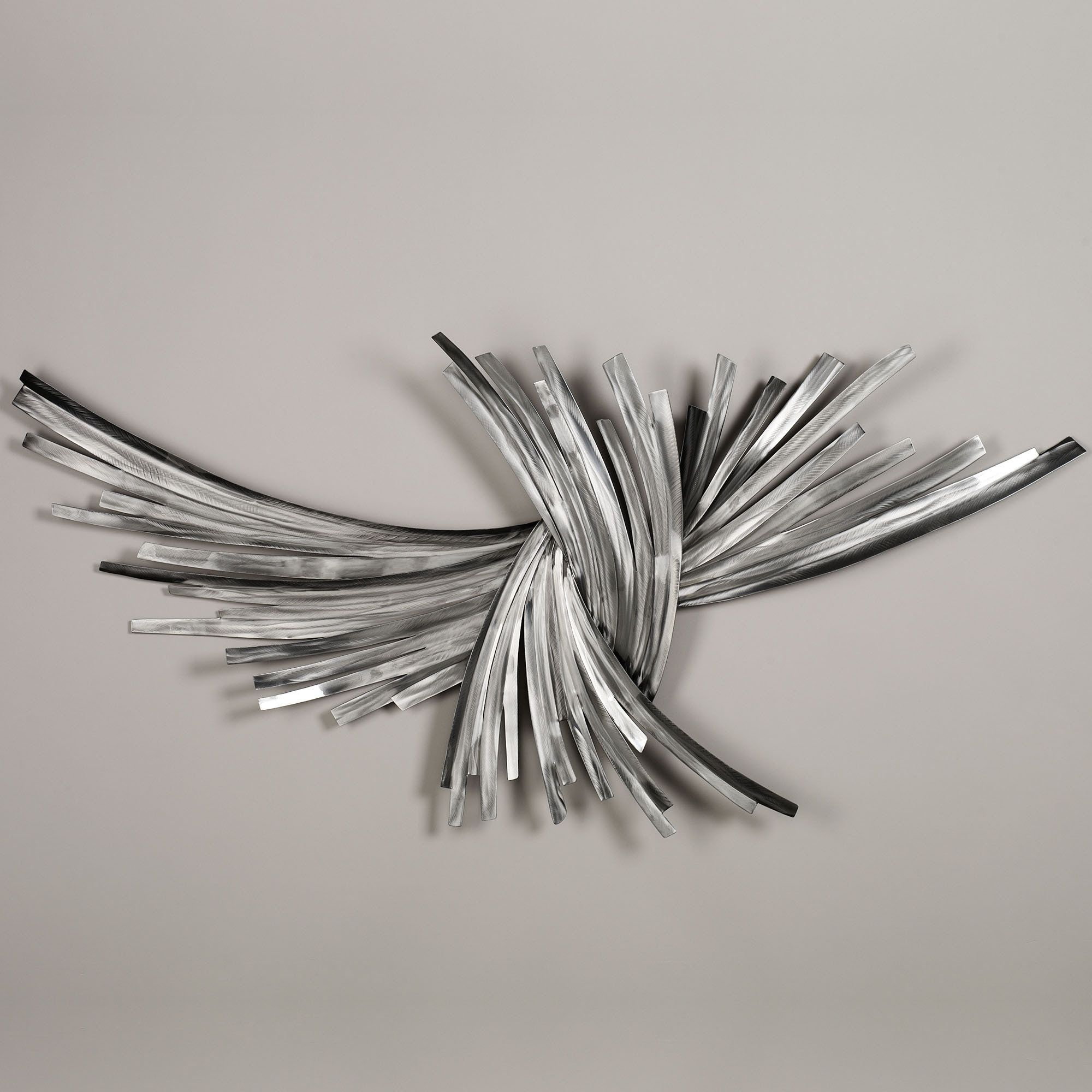 Infinity Silver Metal Wall Sculpture  Silver metal wall art