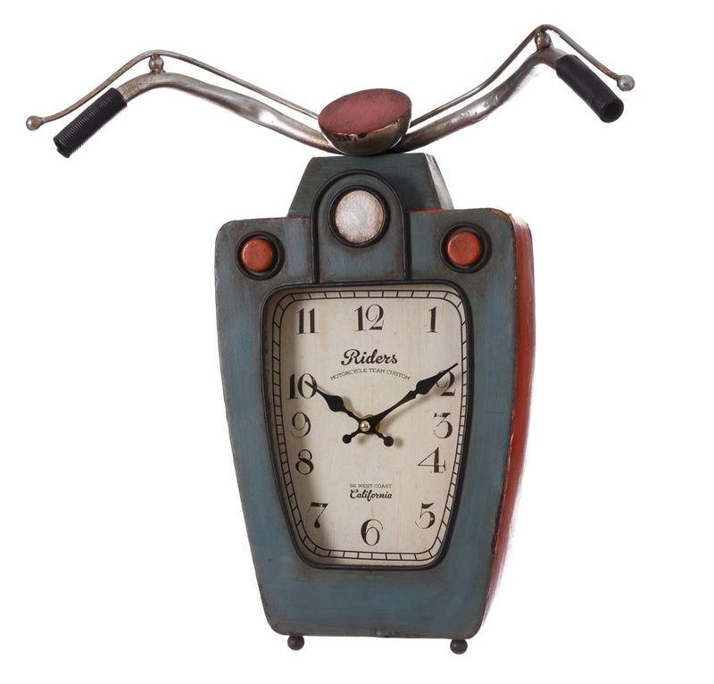 Reloj Moto Gris Rojo en Metal 12 x 40 x 39,5 cm