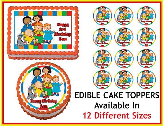 Caillou Edible Cake Image Cupcake Topper by EdibleImageDesigns