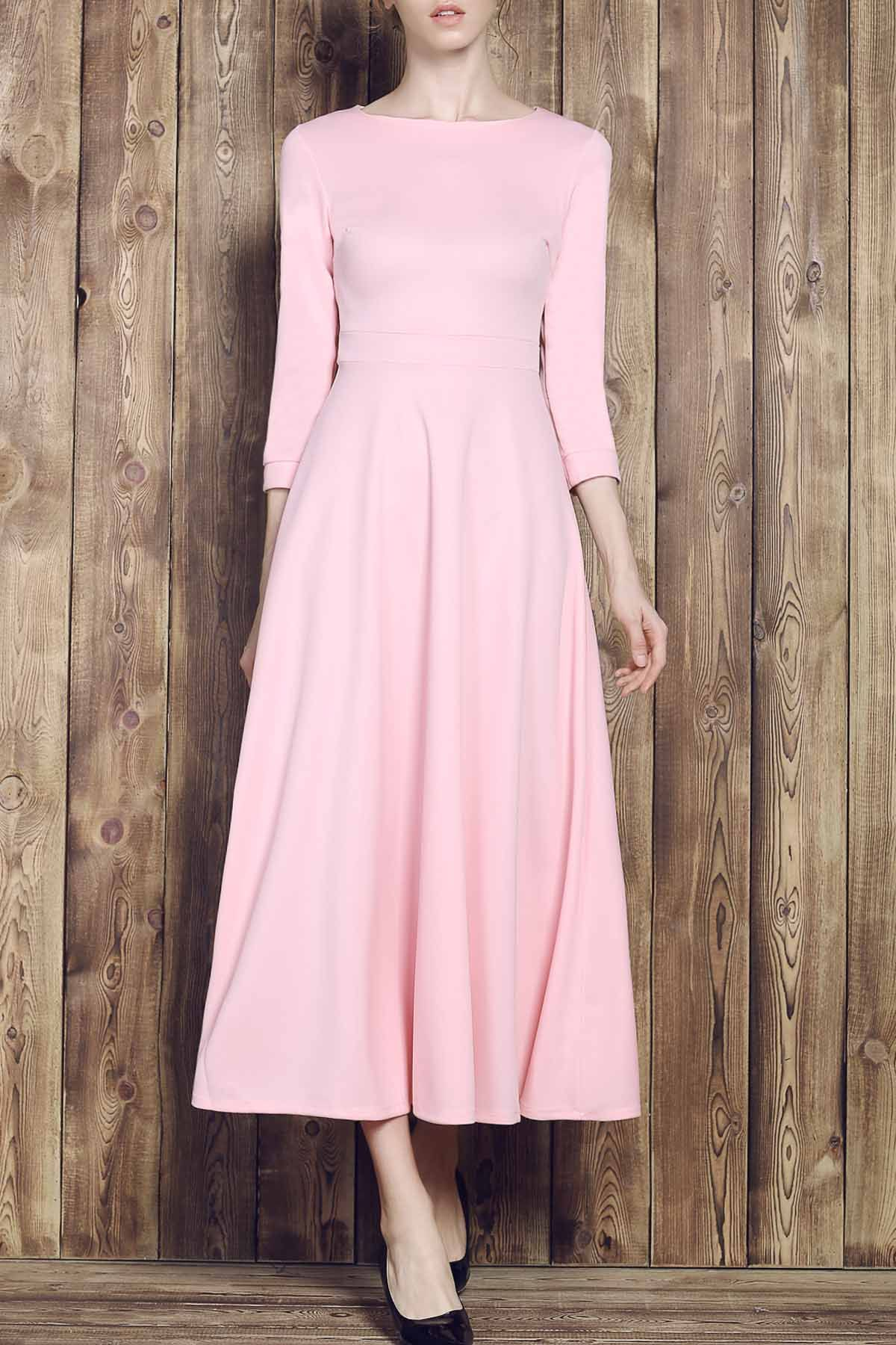 Fit and flare maxi dress maxi dresses rounding and pink maxi