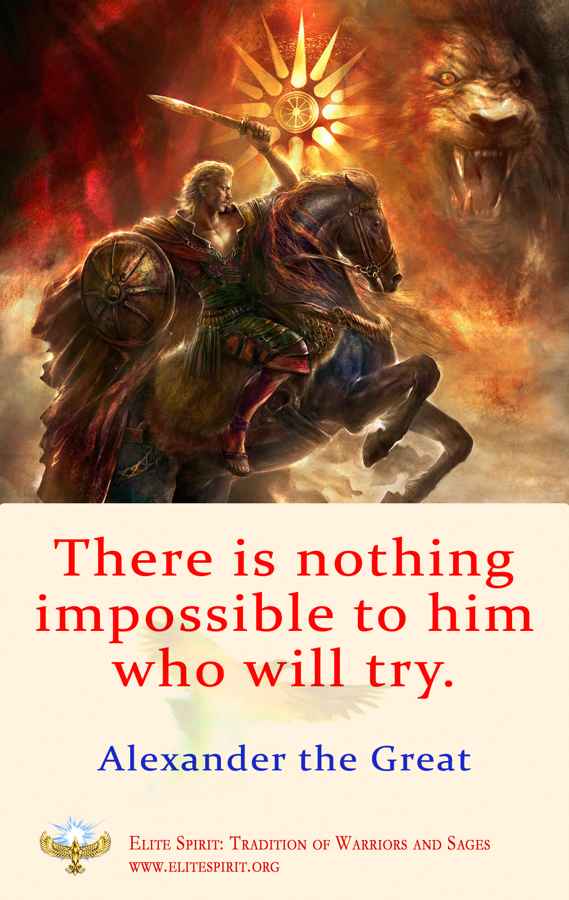 Alexander the Great Quote Saying Art in 2019