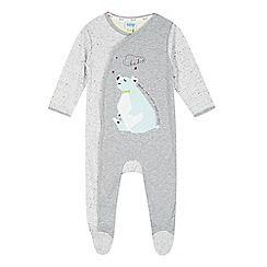 a1084476665c1b Baker by Ted Baker - Babies grey polar bear applique sleepsuit ...