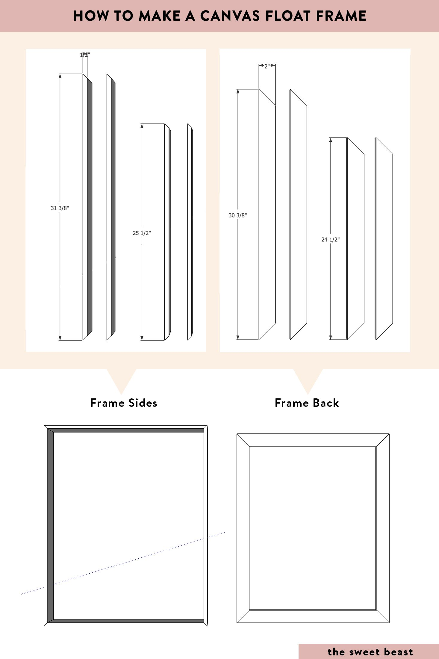 How to Make Your Own Canvas Float Frame | FRAMING | Pinterest ...