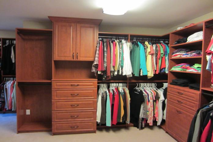 Master Closet In Wild Apple Finish Verona Wisconsin Custom Closets Master Closet Closet