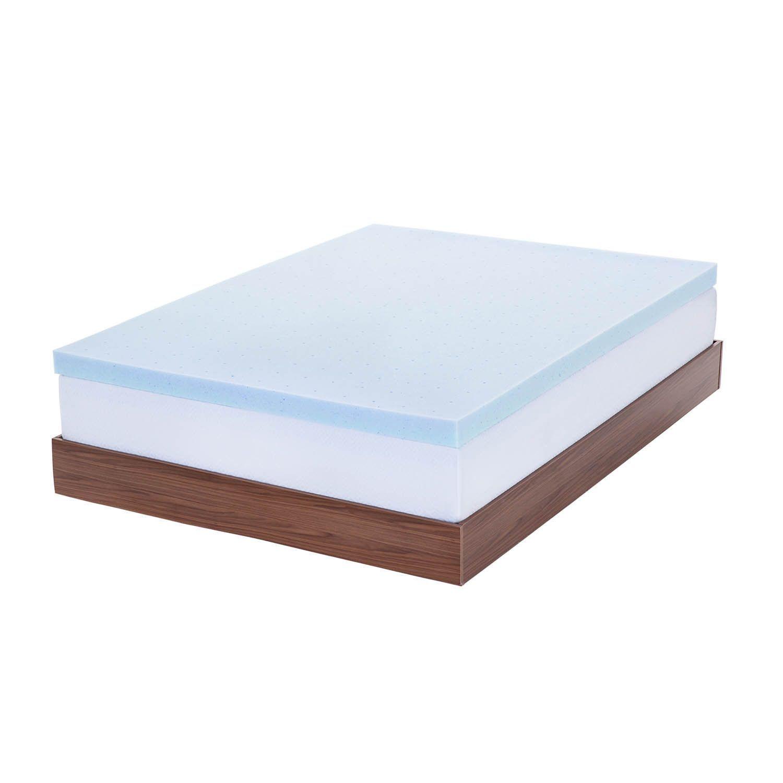 lucid 3 inch gel memory foam mattress topper common shopping