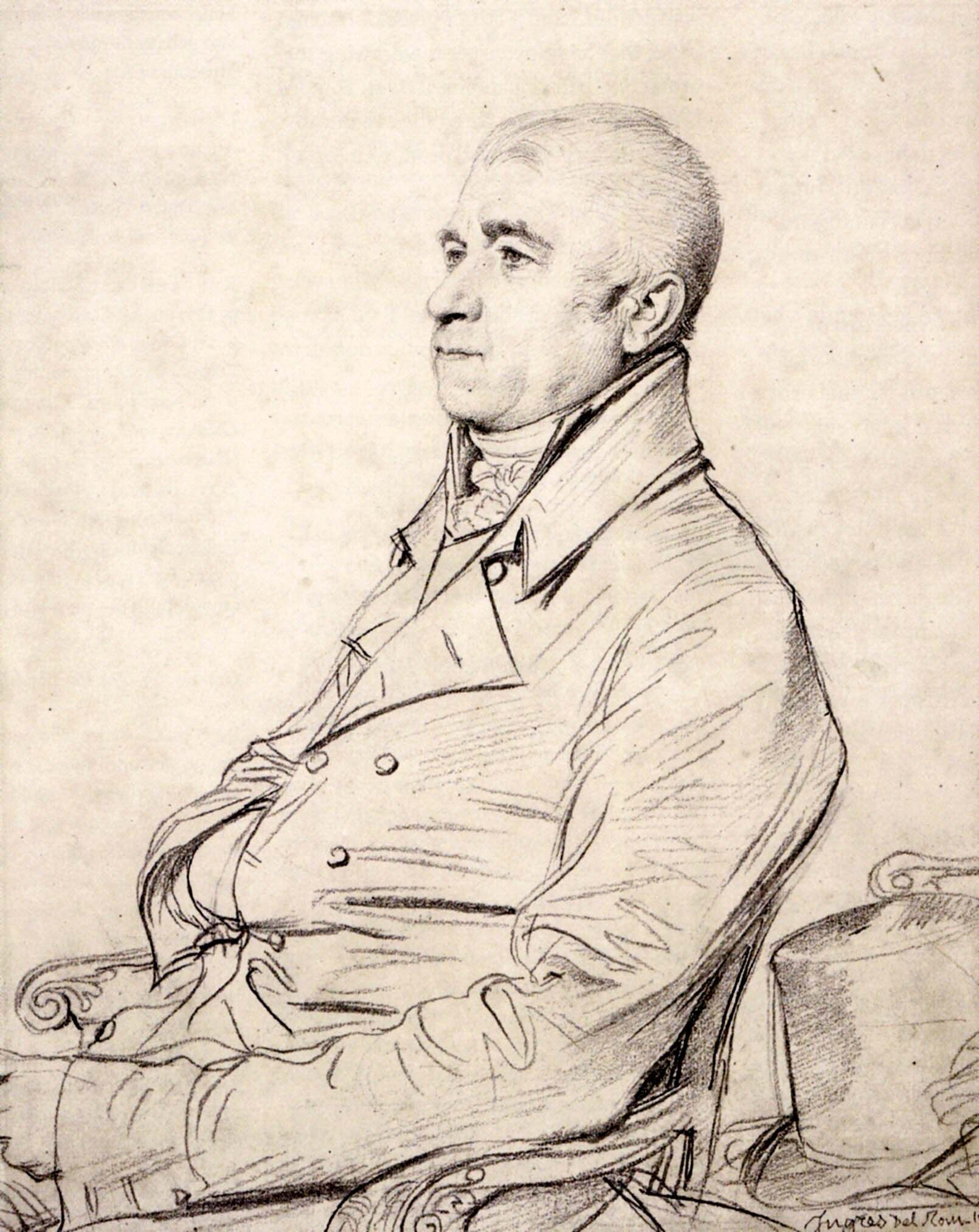 WikiArt.org - the encyclopedia of painting | Ingres, Dessin homme, Portrait  dessin