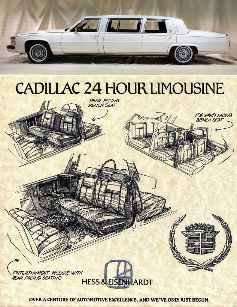1988 Cadillac Fleetwood Brougham Limousine by Hess & Eisenhardt