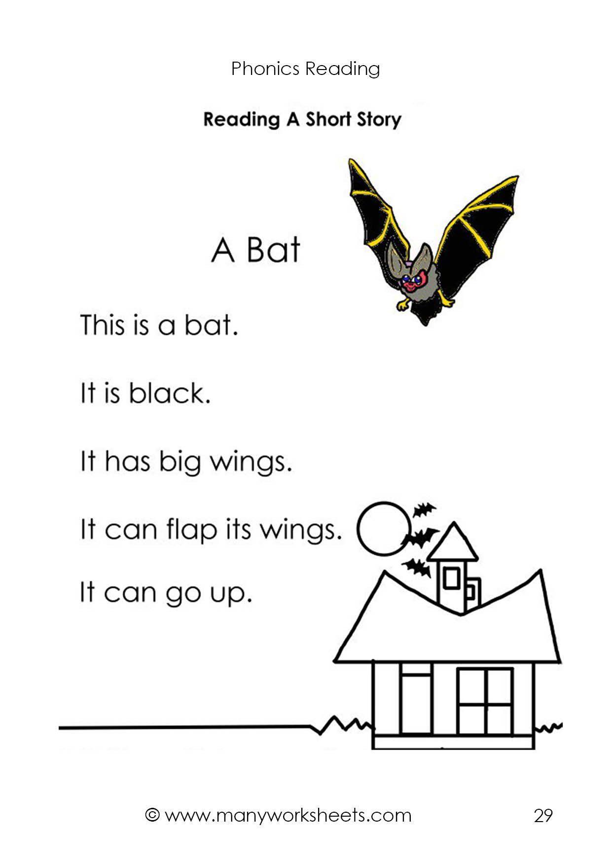 Short A Worksheets Kindergarten Reading Short Story 2 For