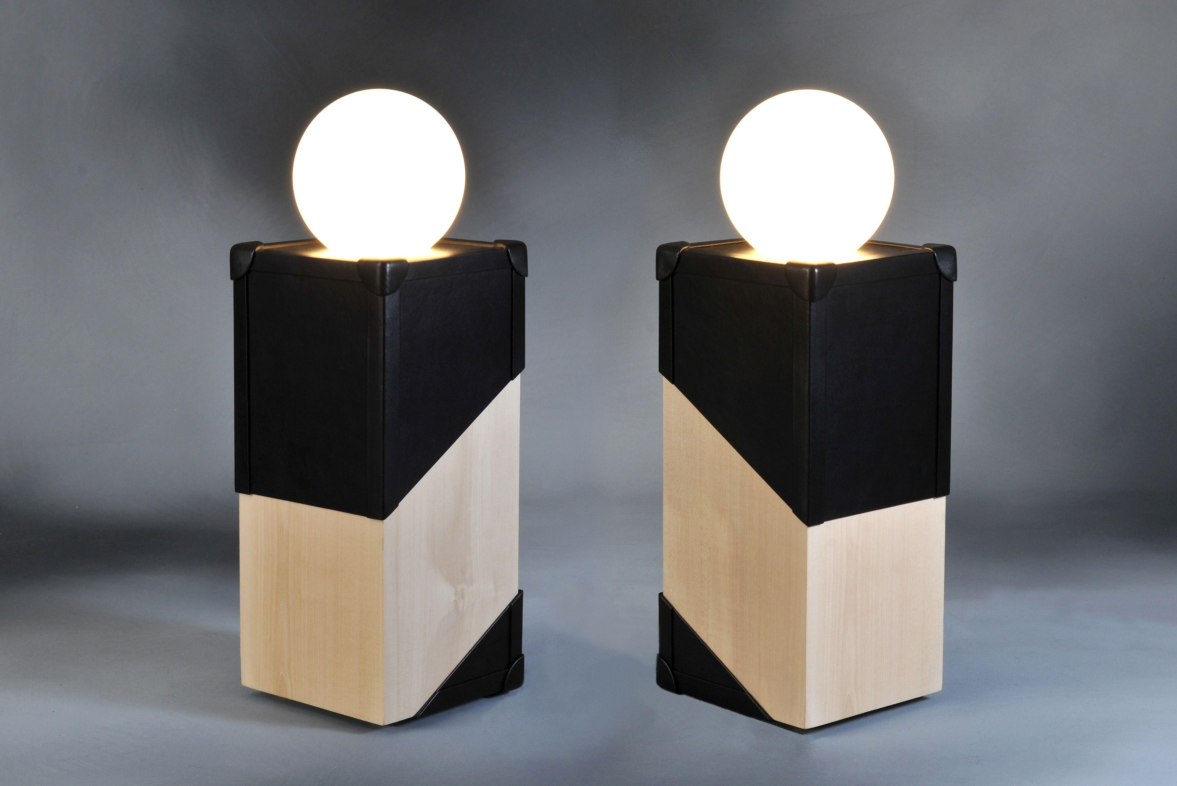 lampes design  poser La malle en lumi¨re Luminaire bloc de