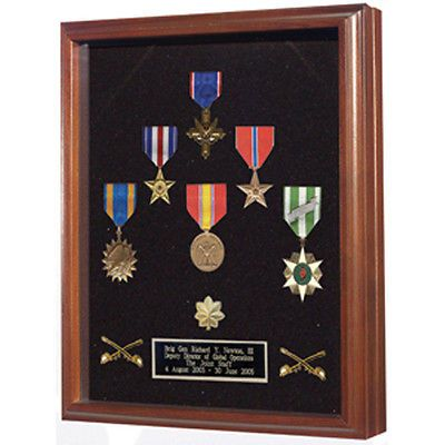Wood And Shadow Box Hand Made By Veterans Medal Case