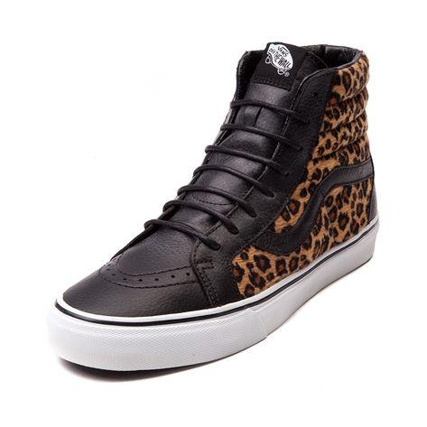 vans sk8 hi leather leopard