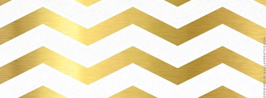 gold and white chevron facebook cover photo free