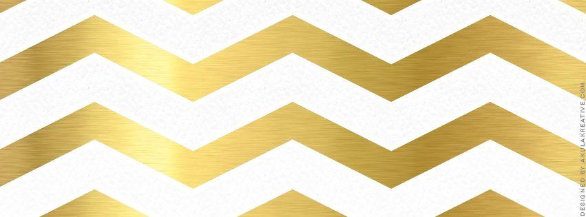 Gold Chevron Facebook Cover Photo // Free Download | Design