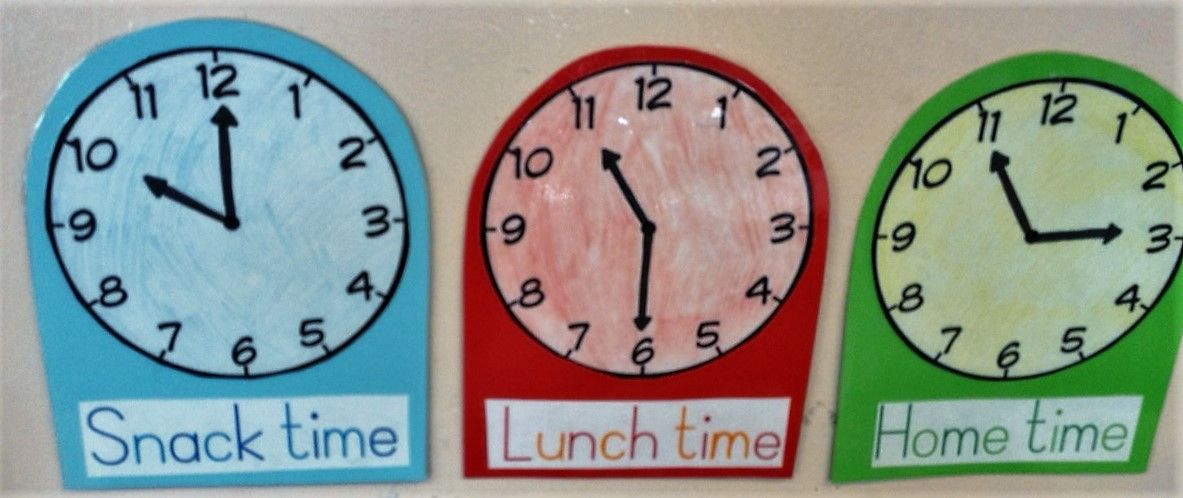 Important times during the day. The staff, visitors and parents know when the important things are happening.