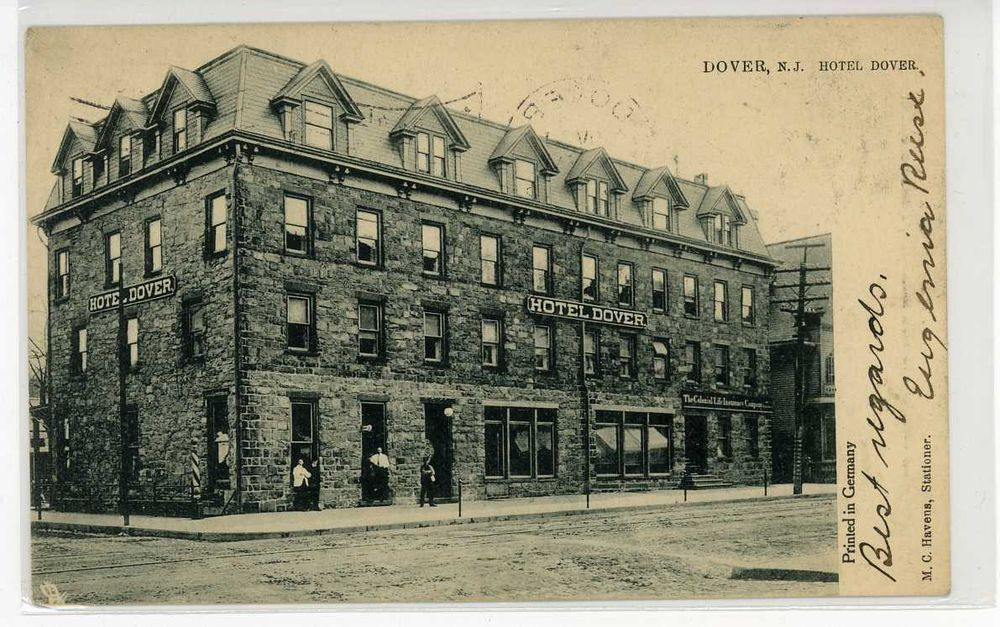 1905 Dover Nj Hotel Morris County Postcard In Collectibles Ebay