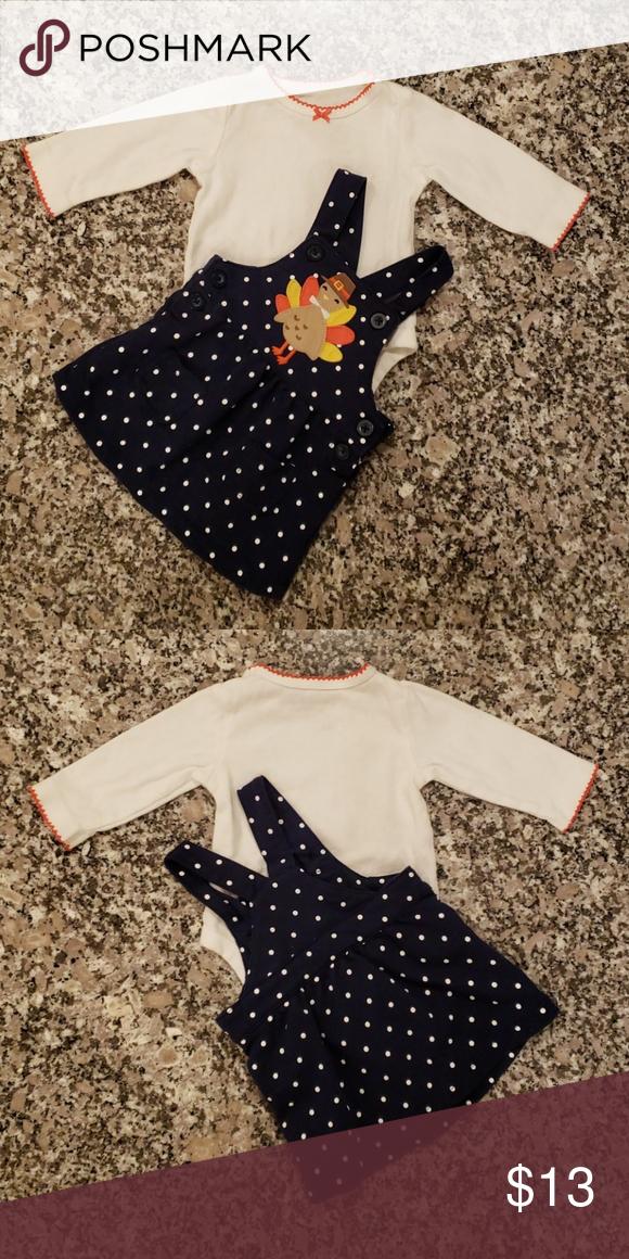 e3c49c28b3cc NWOT. 2-piece Thanksgiving bodysuit   jumper set Carter s 2-piece ...