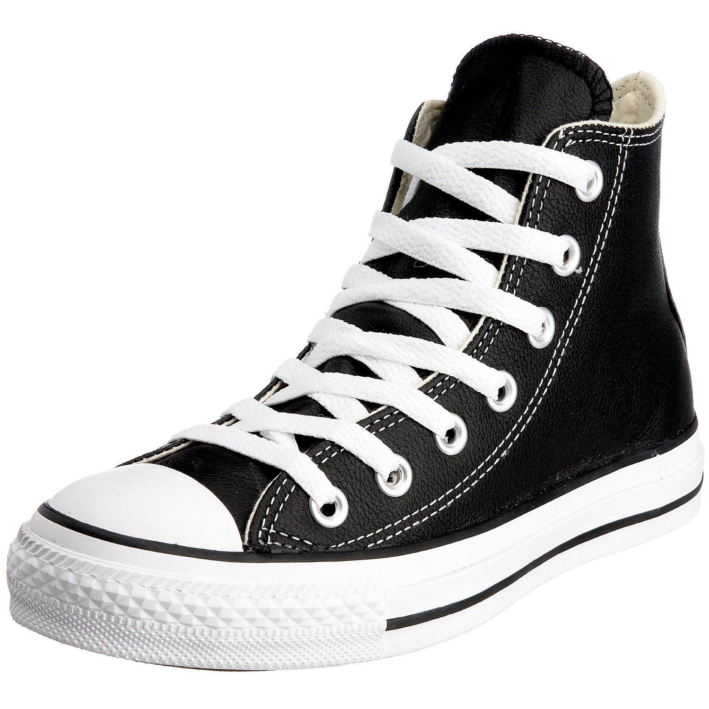 Converse Unisex Chuck Taylor Leather Hi Black Sneaker 8 Men 10 Women >>>  Visit the image link more details.