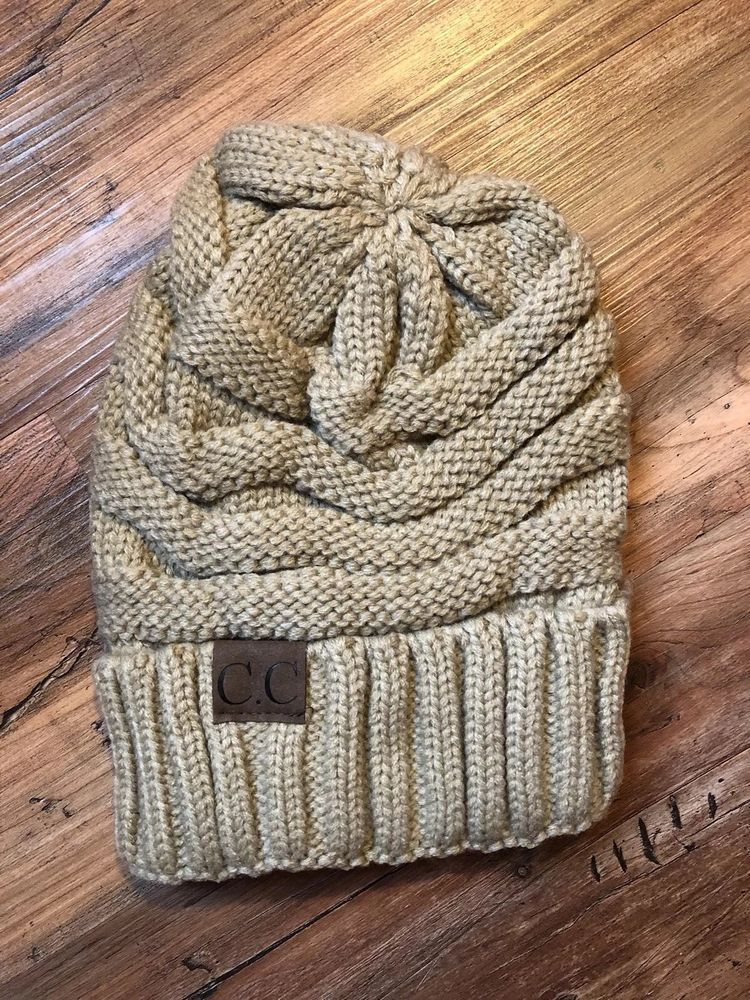 49bbd02efb8 CC Beanie Tan Oatmeal Slouch New No Tags Free Ship!  fashion  clothing   shoes  accessories  womensaccessories  hats (ebay link)