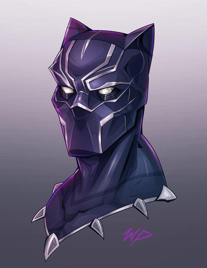 Cartoon Black Panther Drawing : cartoon, black, panther, drawing, Black, Panther, Headshot, Puekkers, Drawing,, Tattoo,
