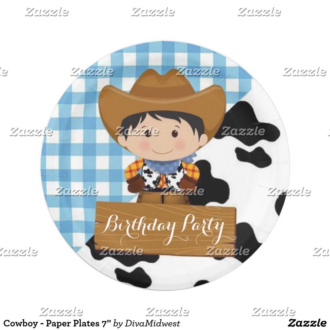 sc 1 st  Pinterest & Cowboy - Paper Plates 7