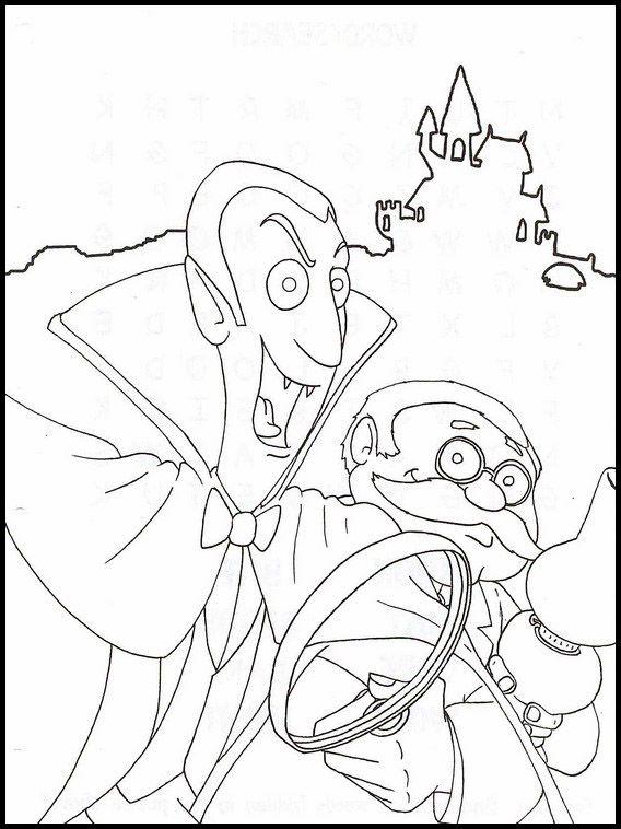 Dracula 24 Ausmalbilder für Kinder. Malvorlagen zum ...