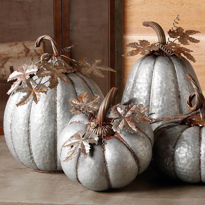 Metal Pumpkins By Patricia Vivirito On Fall Decorations