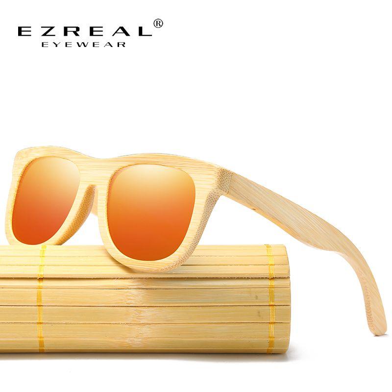 33e8103c37cf7 EZREAL New Men s Wooden Polarized Sun Glasses Retro Men And Women Luxury  Handmade Bamboo Sunglasses for. Óculos ...