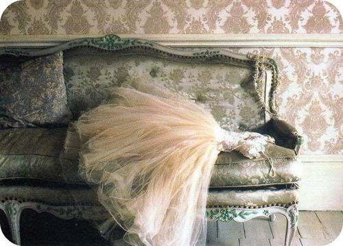 .dress on the sofa