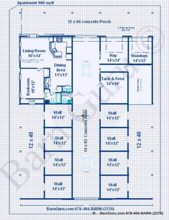 horse barn plans with living quarters