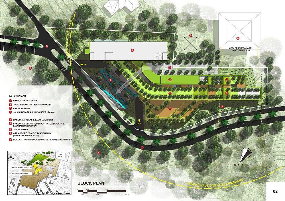 Desain Taman Kota  semarang universitas diponegoro undip projects
