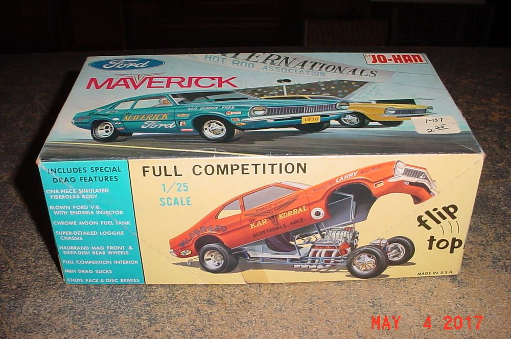 Jo Han 1970 Ford Maverick C 1370 1 25 Scale Model Kit Johan