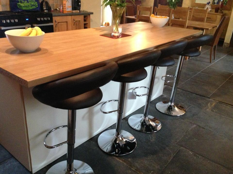 Beautiful Black Breakfast Bar Table