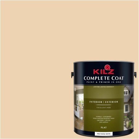 Kilz Complete Coat Interior/Exterior Paint & Primer in One, #LD170-01 Bagel Dough, Beige