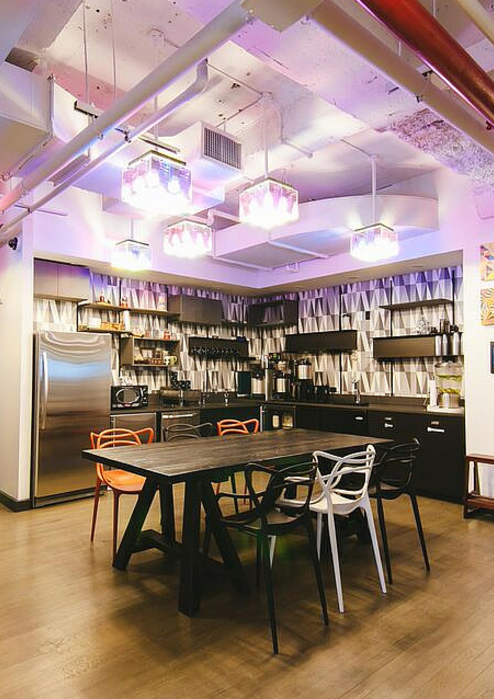Enjoy A Kitchen Work Space At Wework Fulton Center Kitchen Work Space Work Space Fulton Center