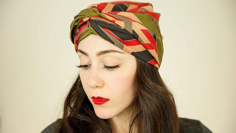 Kopftuch Binden 39 Kreative Ideen Und Anleitung Zum Selbermachen Diy Zenideen In 2020 Kopftuch Binden Haar Schal Stile Turban Binden